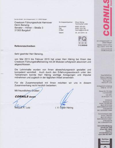 Cornils GmbH über Andreas Berwing