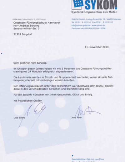 Sykom über Andreas Berwing