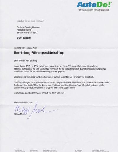 AutoDo! Burgdorf über Businesstraining-Hannover