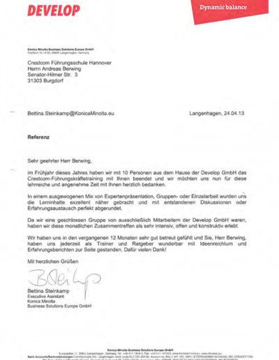 Konica Minolta über Businesstraining-Hannover