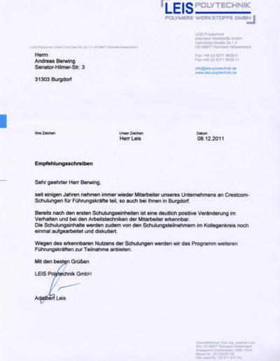 Leis Polytechnik über Businesstraining-Hannover