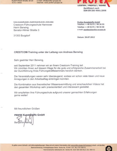 Profex über Andreas Berwing