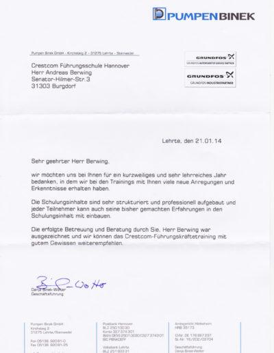 Pumpen Binek über Andreas Berwing