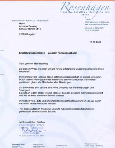 Rosenhagen über Businesstraining-Hannover