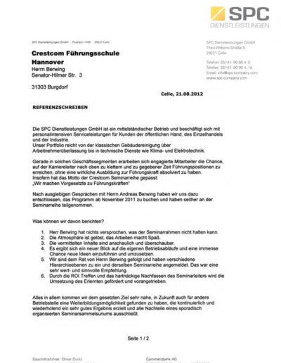 SPC über Andreas Berwing