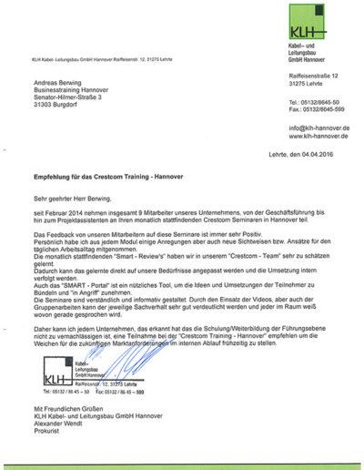 KLH Kabel- Leitungsbau GmbH über Andreas Berwing