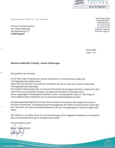 Besser Treppen GmbH über Businesstraining-Hannover